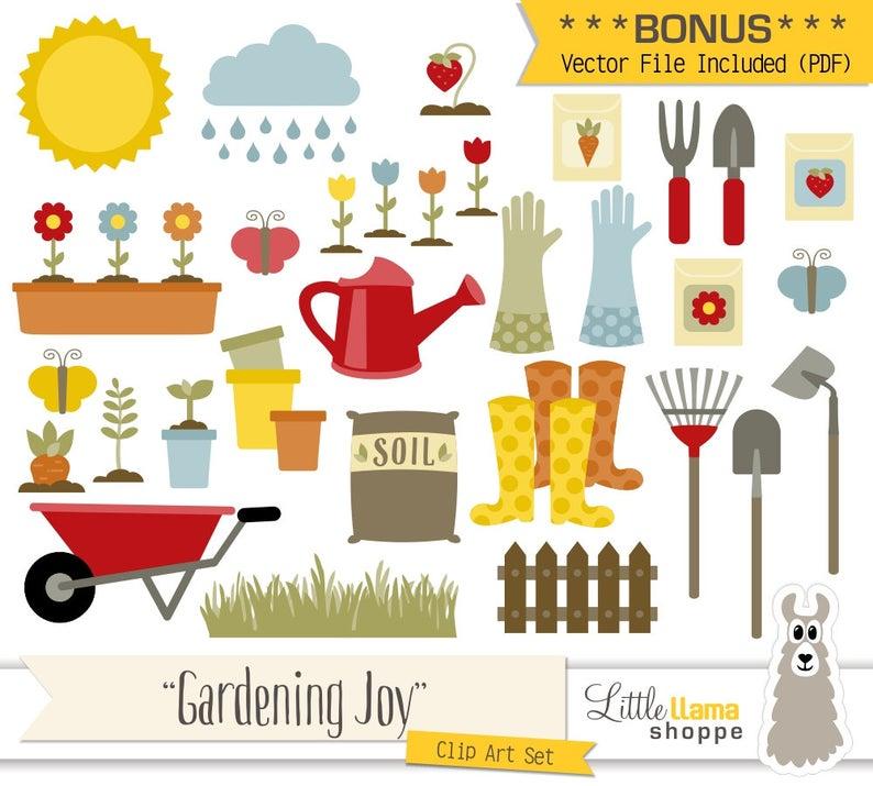 Gardening vector garden clip. Gardener clipart horticulture