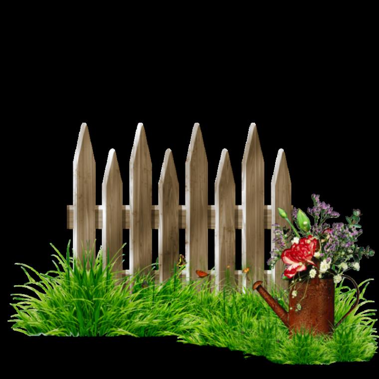Flowers clipart fence. Trouv sur http poussinnette