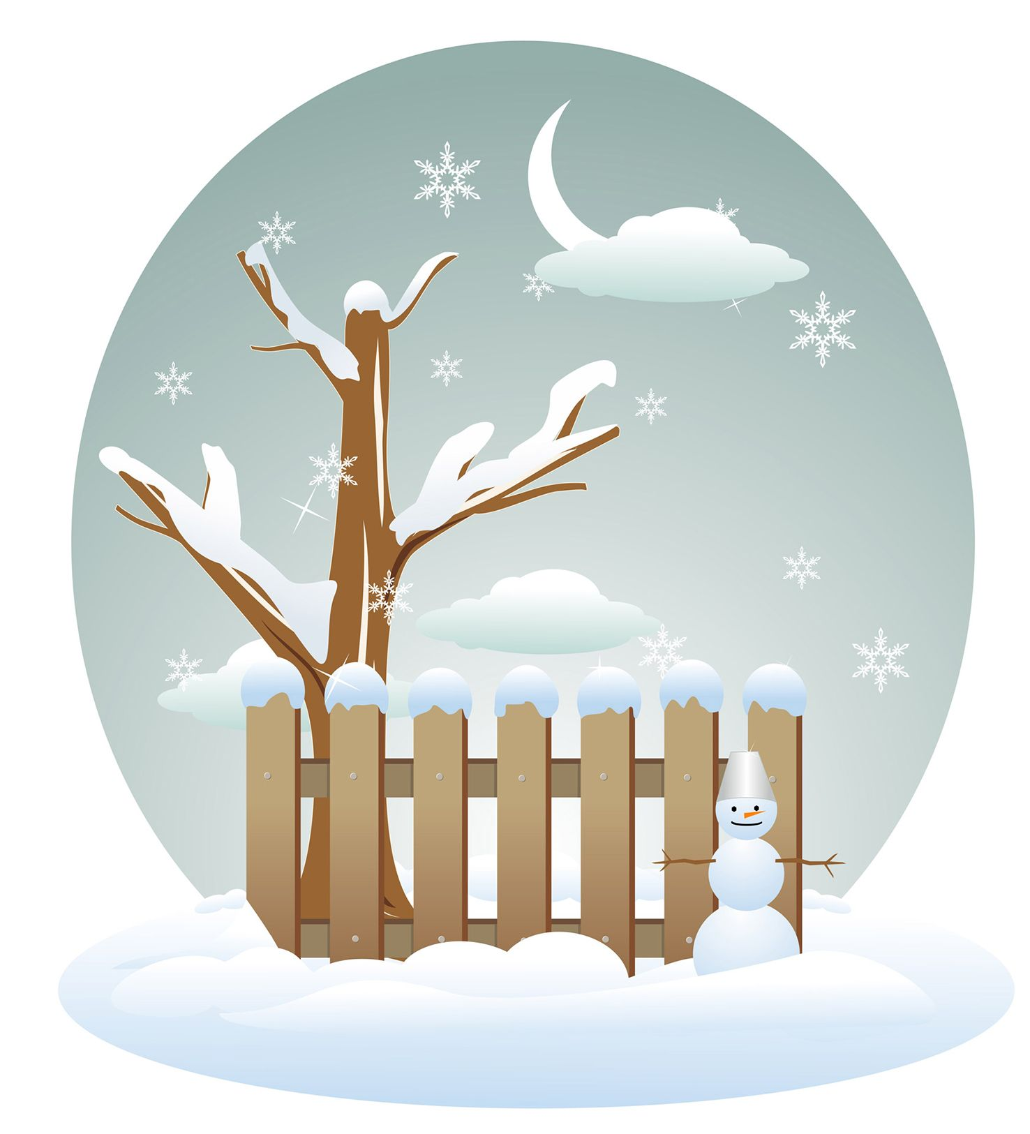 Pin on baby it. Fence clipart winter