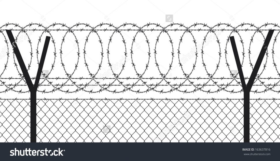 Fence clipart wired fence. Collection of free wire