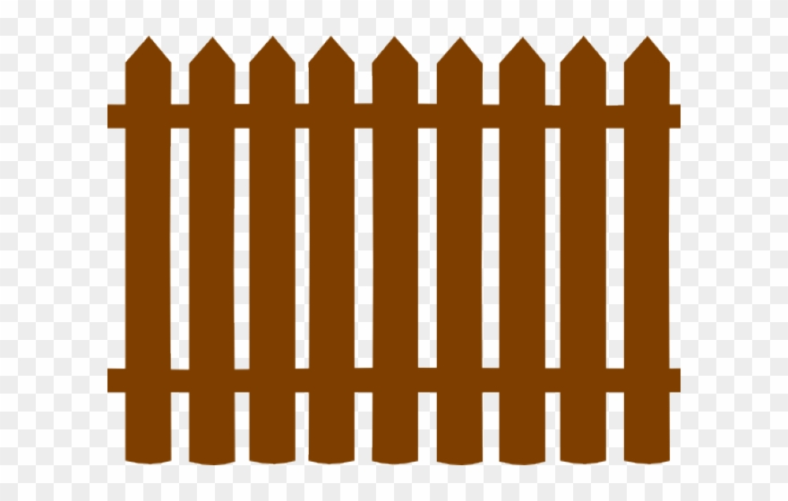 Black picket fence png. Fencing clipart wooden gate