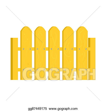 Fence clipart yellow. Stock illustration icon in