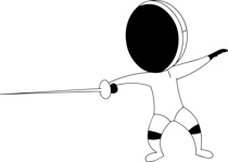 Search results for clip. Fencing clipart