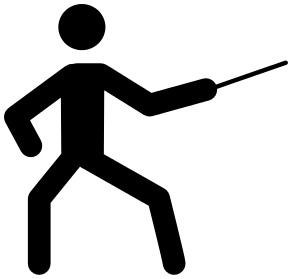 Recreation sports icons a. Fencing clipart