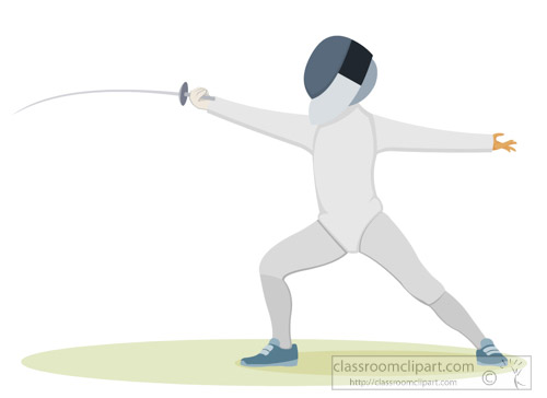 Fencing clipart. Sports free to download