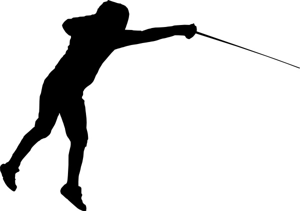 Fencing clipart. Clip art free vector