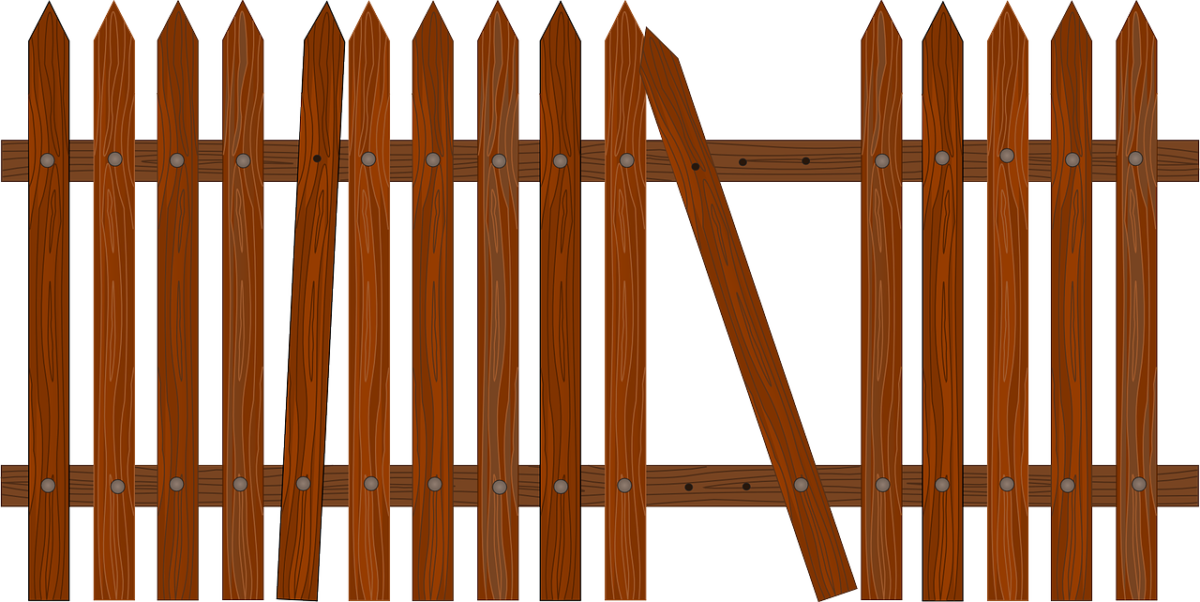 Why maintenance and repair. Fencing clipart brown fence