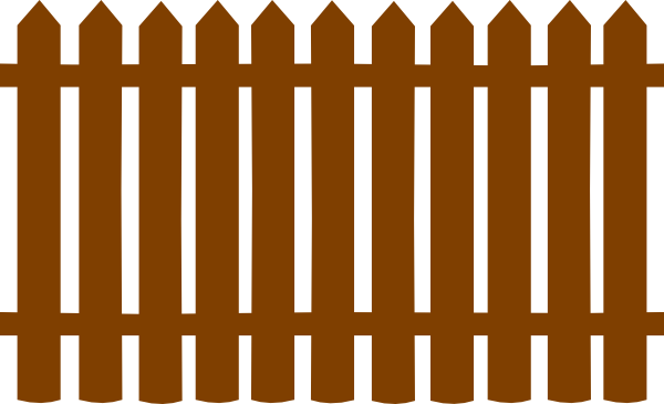 Fences clip art at. Fencing clipart brown fence