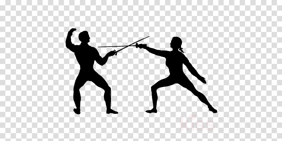 Trendy stylized illustration movement, fencing, line vector silhouette.. in  2020 | Fencing sport, Fence, Stylized