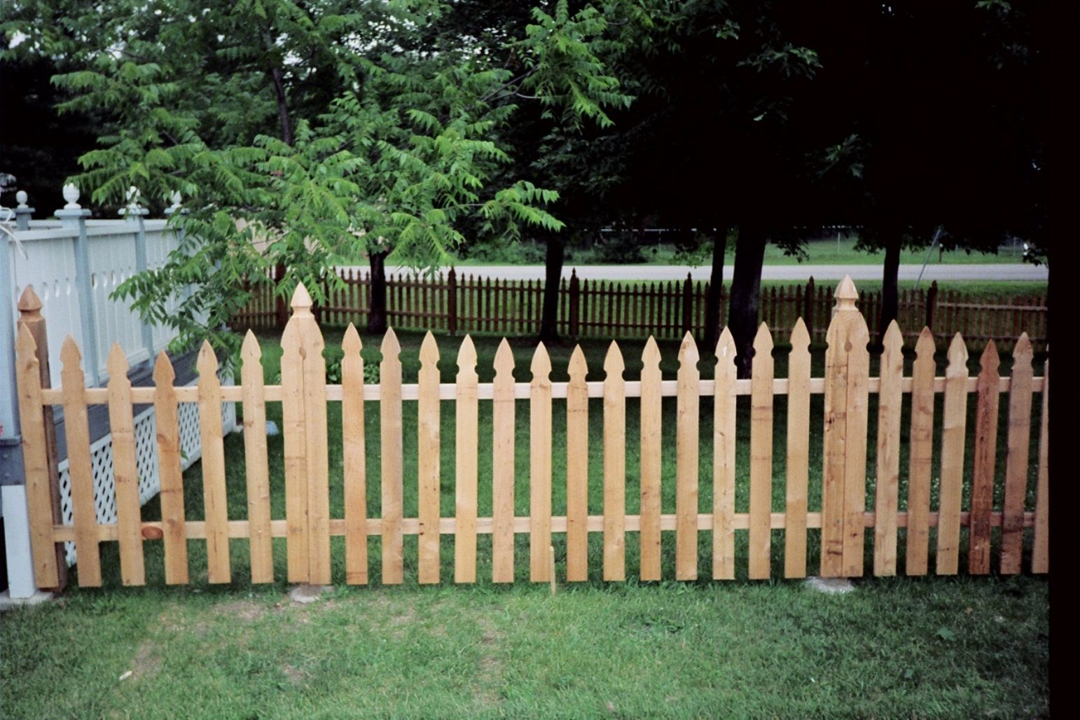 Fencing clipart fench. The topped posts on