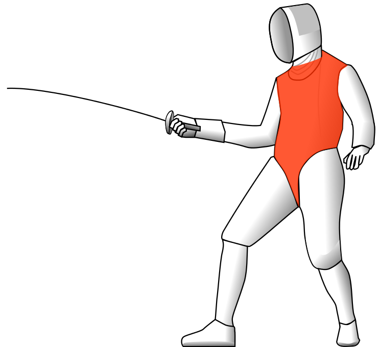 Bradford club beginners target. Fencing clipart fencing foil