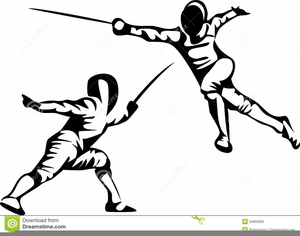 Fencing clipart fencing foil. Free images at clker