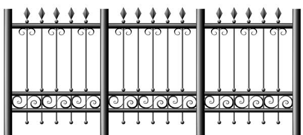 Transparent iron fence png. Fencing clipart fens