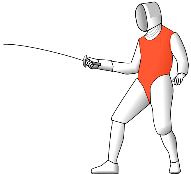 Fencing clipart opponent. What is foil fencers