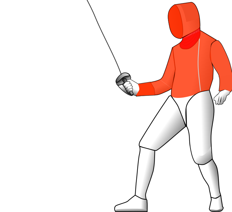 What is field of. Fencing clipart opponent