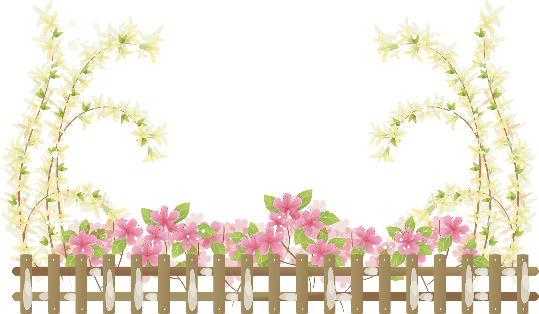 Fencing clipart painting fence. Chain link wire garden