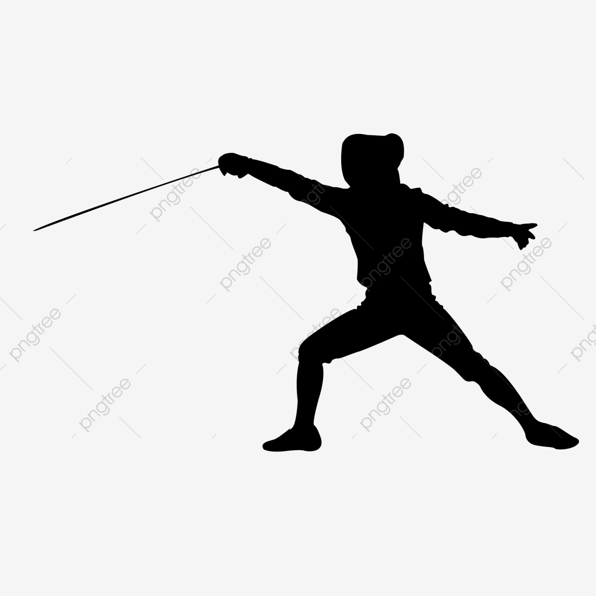 Fencing clipart person. Sports character silhouette physical