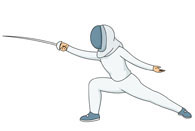 Fencing clipart stance. Search results for clip