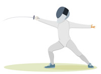 Search results for clip. Fencing clipart stance