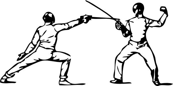 Clip art free vector. Fencing clipart