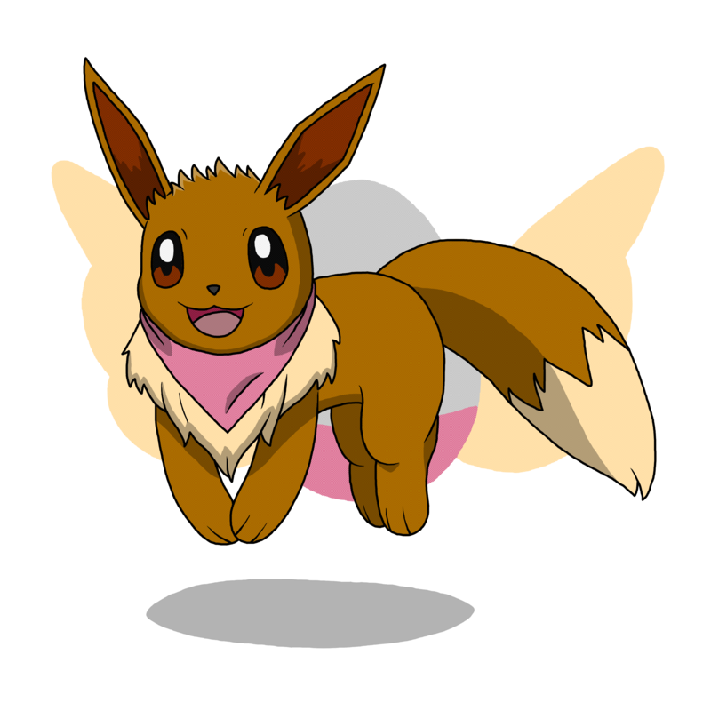Eevee by truevisionary on. Fern clipart academic