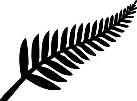 Pin by creeksdecalsandgifts vinyl. Fern clipart all blacks