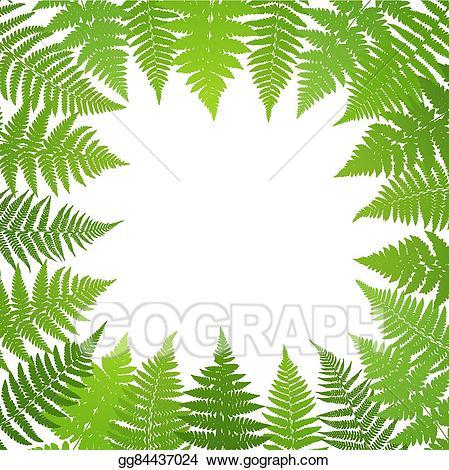 Fern clipart jungle. Vector art poster frond