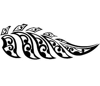 Tattoo new zaeland tattoos. Fern clipart maori