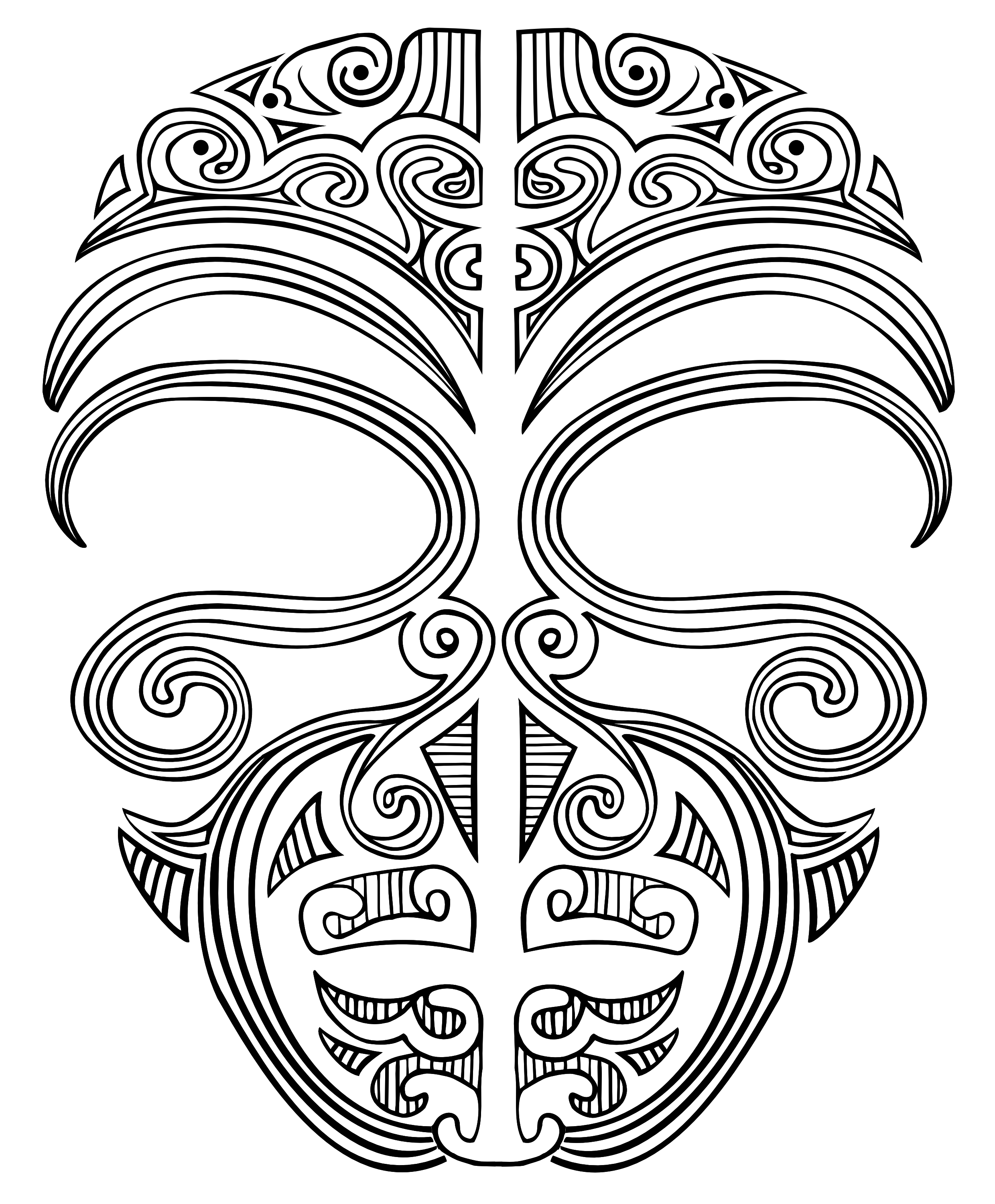 Shell clipart tattoo. Ta moko face maori