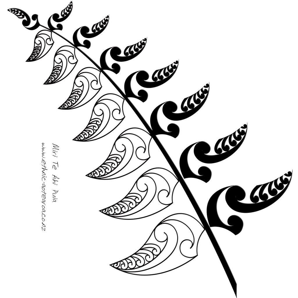 Art nz silver all. Fern clipart maori