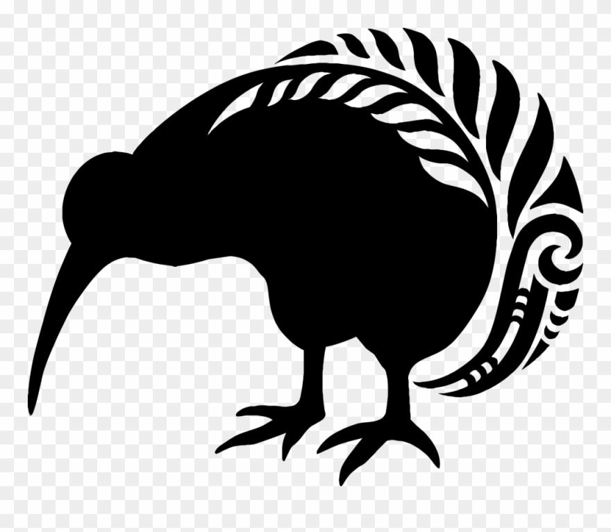 Fern clipart maori. Kiwi bird pattern new