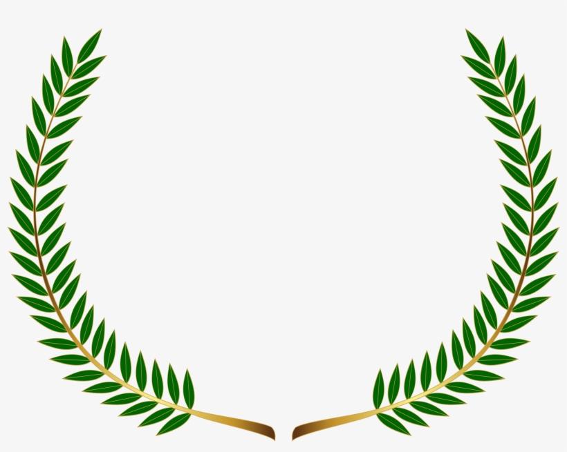 Laurel wreath gold png. Fern clipart olive