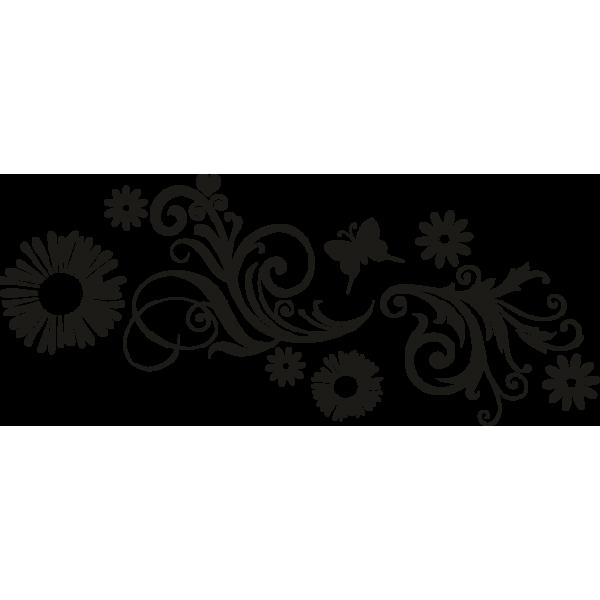Vinilo floral vinilos decorativos. Fern clipart stencil