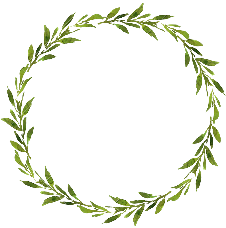 Wedding rosemary place cards. Fern clipart wreath