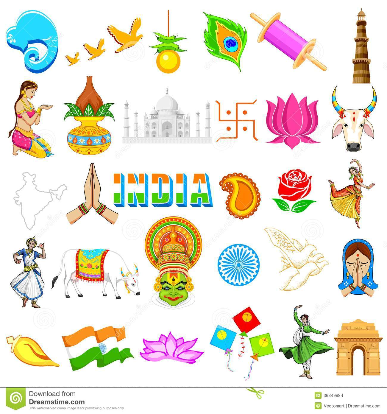 collection of festivals. Festival clipart