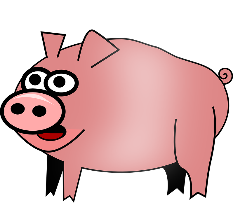 Fall festival shop of. Pig clipart obese