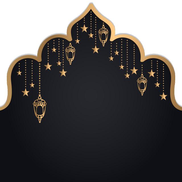 Festival clipart cultural event. Ramadan kareem golden floral