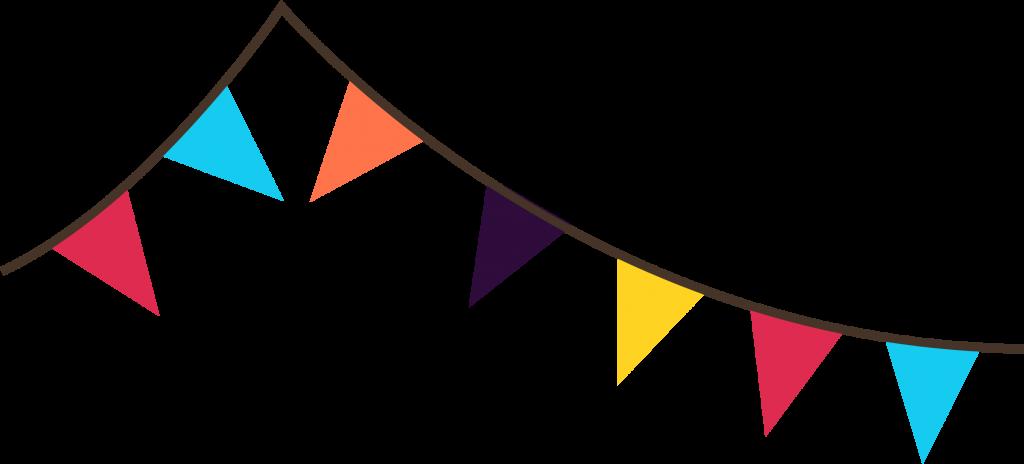 Festival clipart festival banner. Top triangle flag clip