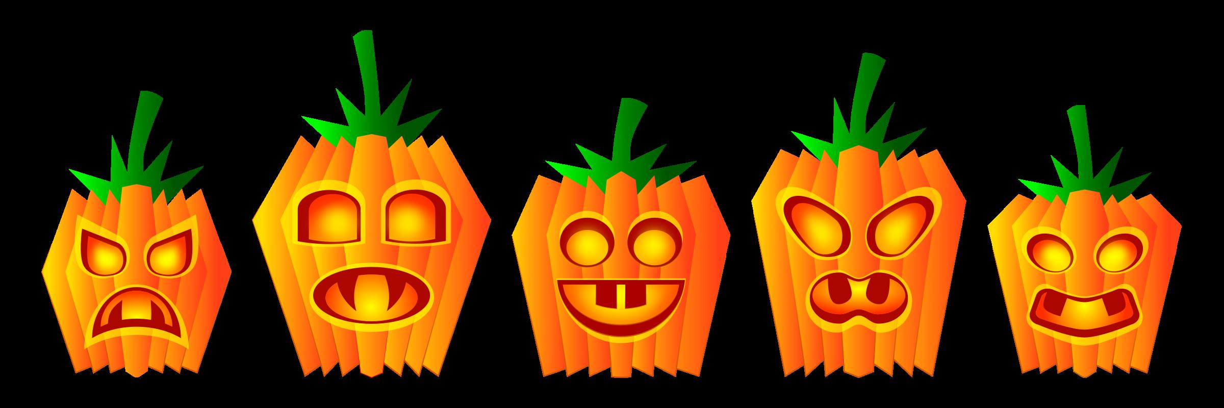 Pumpkins big image png. Festival clipart halloween