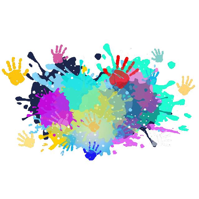 Colorful colors color powder. Festival clipart holi