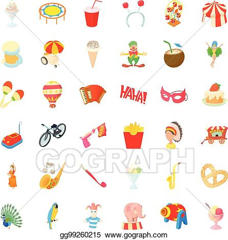 Eps vector icons set. Festival clipart icon