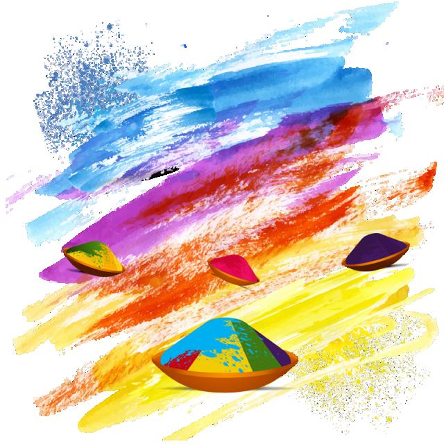 Colors holi india free. Festival clipart id festival