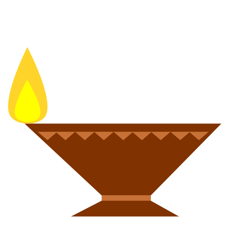Diya for the festival. Lamp clipart deya