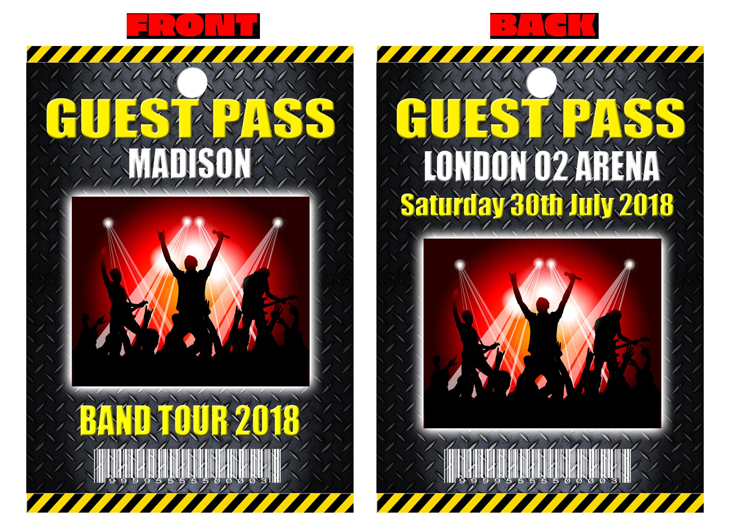 Guest pass or event. Festival clipart pop concert