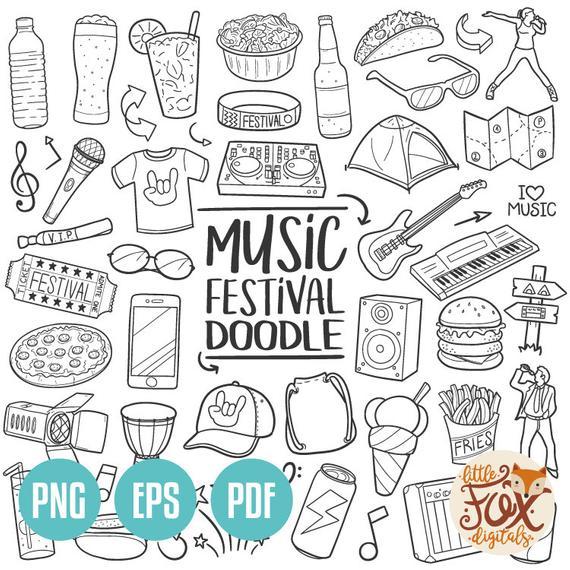 Eps music party summer. Festival clipart vector