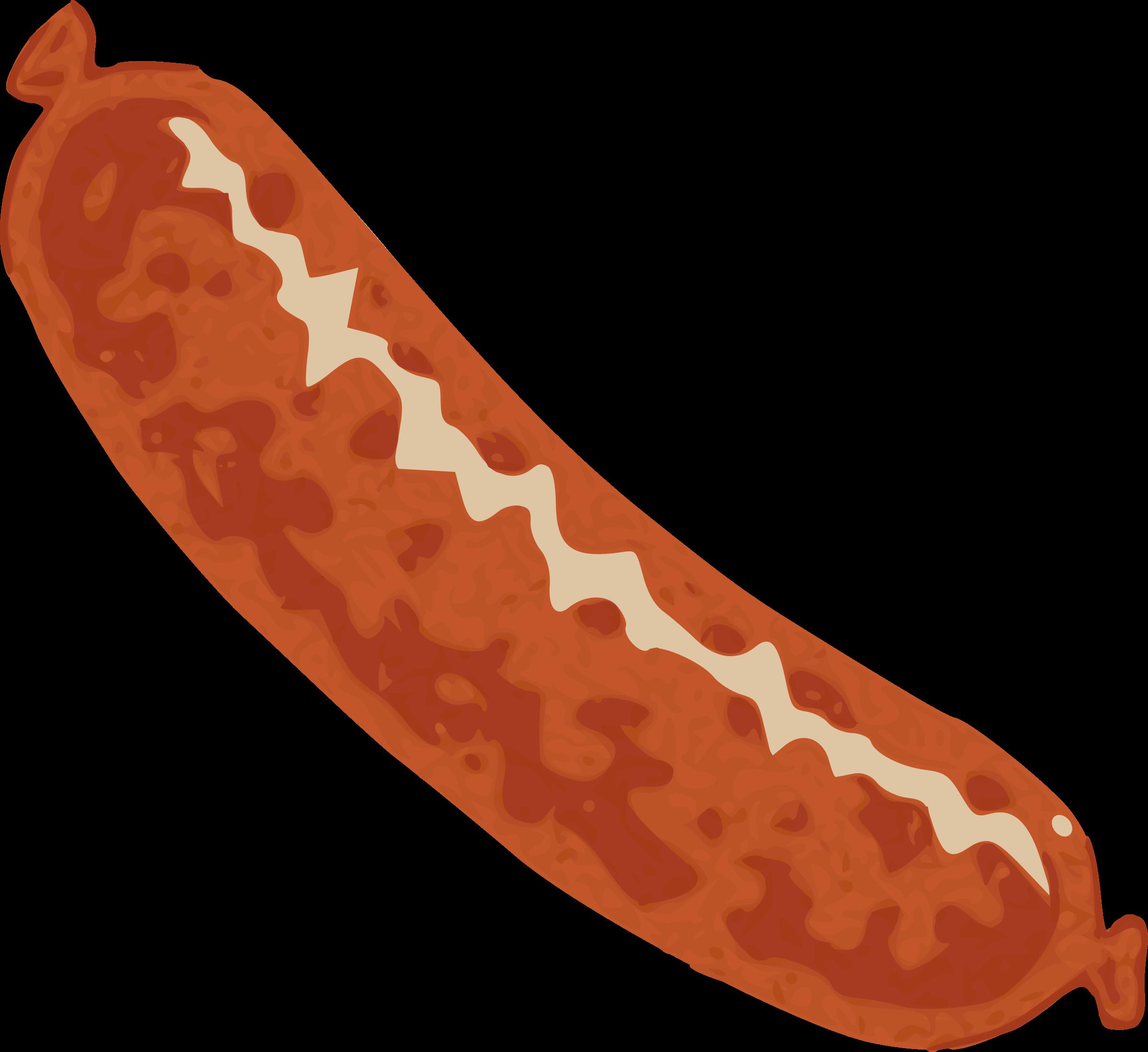 Sausage big image png. Hotdog clipart outline
