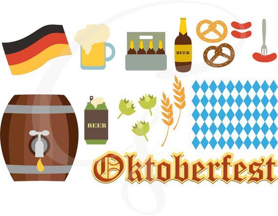Oktoberfest svg commercial use. Festival clipart vector