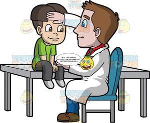 Pediatrician clipart male pediatrician. A checking if his