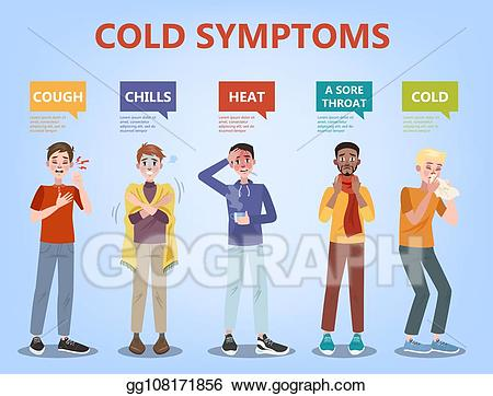 Vector and symptoms infographic. Flu clipart cold fever