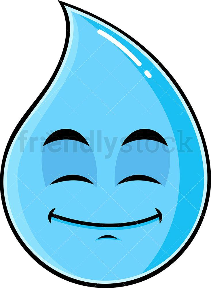 Raindrop clipart big. Happy looking emoji clip